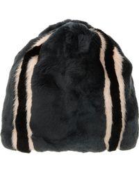 Marni - Striped Rabbit Mink Fur Slouchy Hat - Lyst