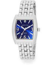 Adrienne Vittadini Diamond Silvertone Bracelet Watch - Lyst