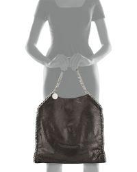 Stella McCartney Falabella Large Faux-Python Tote Bag - Lyst