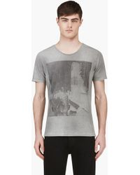 Diesel Grey Photo Print T_ort T_shirt - Lyst