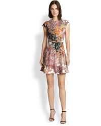 Carven Abstract-print Fit--flare Dress - Lyst
