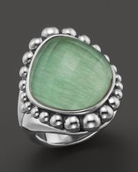 Lagos Sterling Silver Maya Variscite Doublet Dome Ring - Lyst