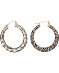 Munnu Diamond Jali Hoop Earrings - Lyst