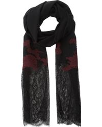 Erdem Mixed Floral Lace Scarf - Lyst