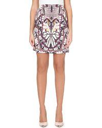 Just Cavalli Jersey Butterfly Print Skirt - Lyst
