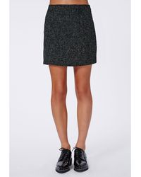 Missguided Maggi Textured Mini Skirt Black - Lyst