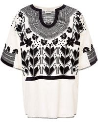 Suno Embroidered Cotton Top - Lyst