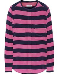Equipment Lynn Striped Washed Silk Shirt - Lyst