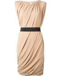 Lanvin Draped Dress - Lyst