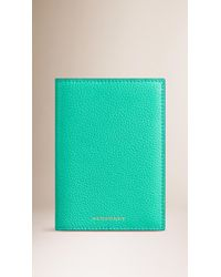 Burberry Sport - Grainy Leather Passport Cover - Lyst