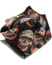 Alexander McQueen Patchwork Skull Heart Scarf - Lyst