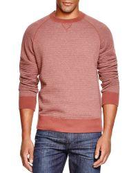 Billy Reid - Quilted Crewneck Pullover Sweatshirt - Lyst
