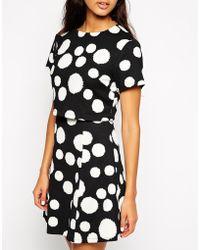 Max C - Max C Layered Dress In Fuzzy Spot Print - Lyst