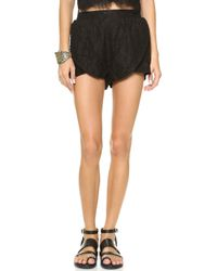 Mink Pink The Days You Feel Alive Shorts Black - Lyst