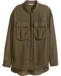 H&M Long-Sleeved Blouse - Lyst