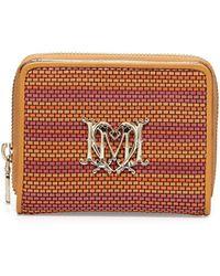 Love Moschino - Woven Fauxleather Stripe Wallet - Lyst