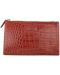 Osprey London - Large Belle Croc Leather Make Up Bag - Lyst