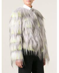 Giorgio Armani Fur Short Shaggy Coat - Lyst