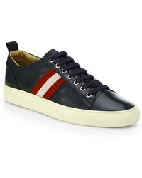Bally Leather Laceup Sneakers - Lyst