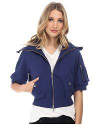Love Moschino Zip Front Hooded Sweatshirt - Lyst