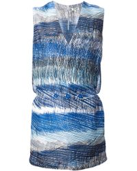 Kenzo Blue Shift Dress - Lyst