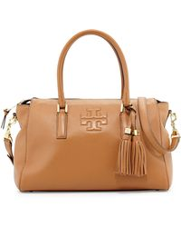 Tory Burch Thea Leather Zip Satchel Bag - Lyst