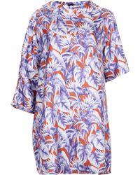 Topshop Womens Asymmetric Rainforest Print Silk Dress by Boutique  Multi - Lyst