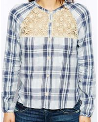 Denim & Supply Ralph Lauren - Denim And Supply By Ralph Lauren Place Shirt With Lace Inserts - Lyst