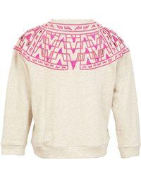 Sea Harah Embroidered Cutout Sweatshirt - Lyst