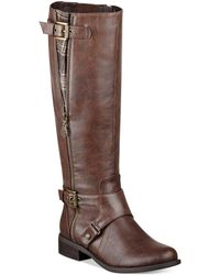 G By Guess Womens Hertle Tall Shaft Wide Calf Riding Boots - Lyst