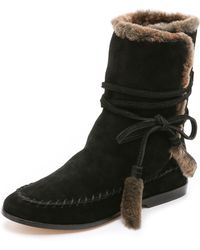 Cynthia Vincent - Hustle Shearling Boots - Lyst
