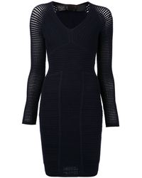 Yigal Azrouel Ribbed Perforated Dress - Lyst