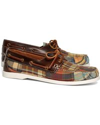 Brooks Brothers - Madras Boat Shoes - Lyst