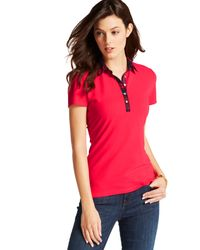 Tommy Hilfiger Plaid-trim Polo - Lyst
