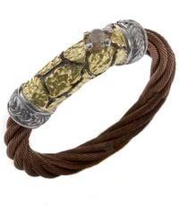 Charriol Women'S Sahara 18K Yellow Gold Bronze-Tone Steel Diamond .06Tcw Ring - Lyst
