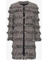 Exclusive For Intermix - Layered Fringe Coat - Lyst