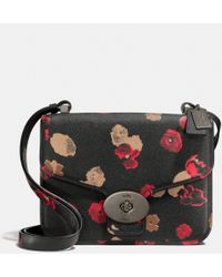 Coach Page Shoulder Bag in Floral Print Leather - Lyst