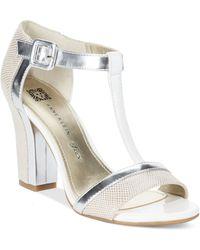 Anne Klein Cristyn T-strap Sandals - Lyst