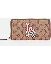 528d79365033 Lyst - Gucci Rania Original Gg Canvas Zip Around Wallet in Natural ...