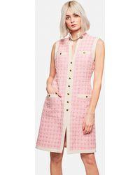 Gucci - Abito Corto In Tweed Con Cintura - Lyst