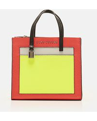 761e1a1350e3 Marc Jacobs - Grainy Leather The Mini Grind Colorblocked Tote Bag - Lyst