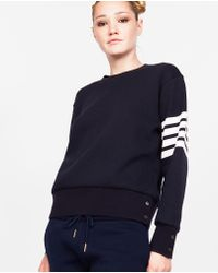 Thom Browne - Round-neck Sweatshirt In Mixed Cashmere - Lyst