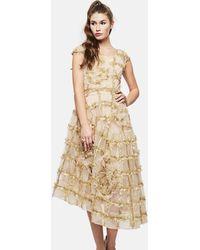 Simone Rocha - Asymmetric Tulle Dress - Lyst