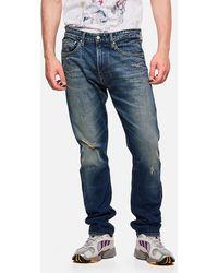 Calvin Klein Cotton Denim Pants - Blue