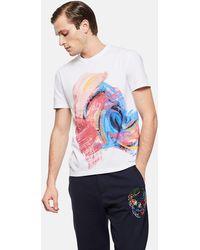Alexander McQueen - Paint Effect T-shirt - Lyst