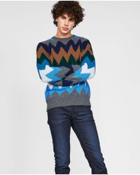 Moncler - Zig Zag Patterned Sweater - Lyst