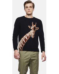 Valentino - Maglione Con Intarsio Giraffa - Lyst