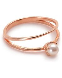 Bing Bang | Pearl Illusion Ring | Lyst
