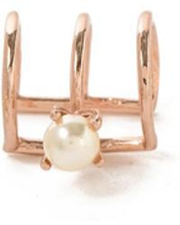 Bing Bang | Delicate Caged Pearl Ear Cuff | Lyst
