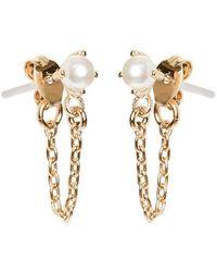 Bing Bang | Pearl Continuous Earrings | Lyst